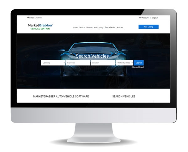 Auto, Vehicle Software - Classified Ad Software - MarketGrabber ...