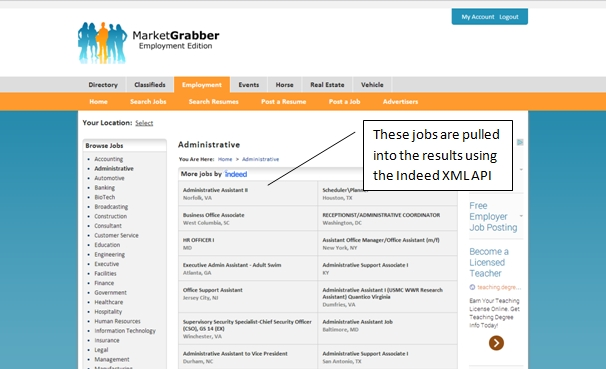 MarketGrabber Job Board Software Indeed Import